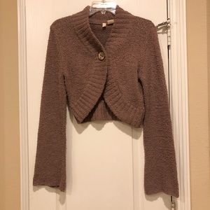 Anthropologie Moth cropped cardigan Tan Color M